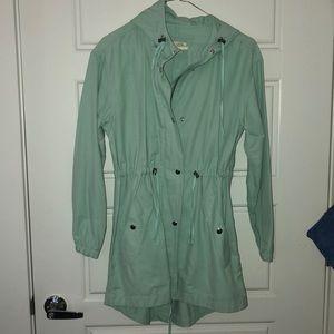 Jcrew- light blue/turquoise utility jacket